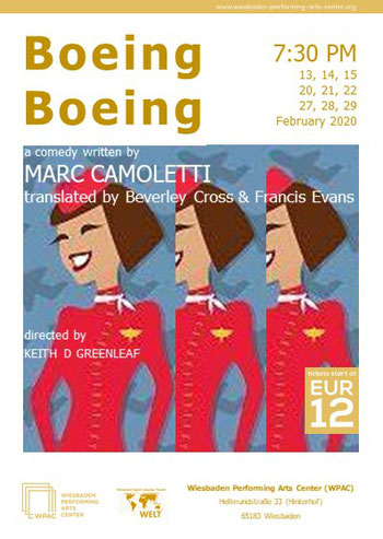 """Boeing Boeing"" WPAC poster"